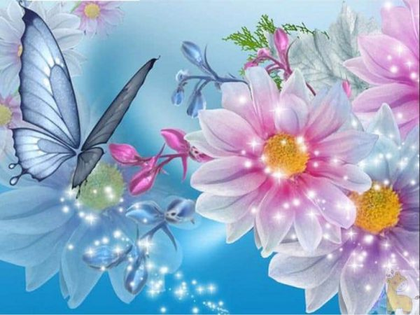 Photo of Butterfly Flowers Design