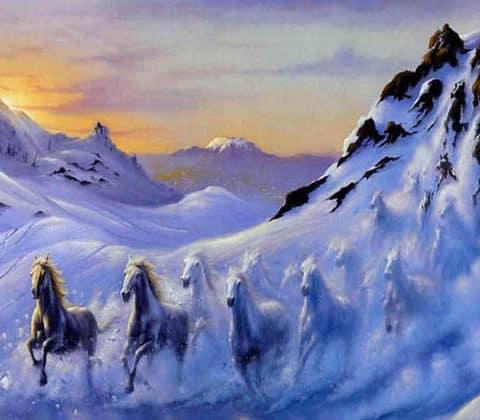 Photo of Glacier Horse Design