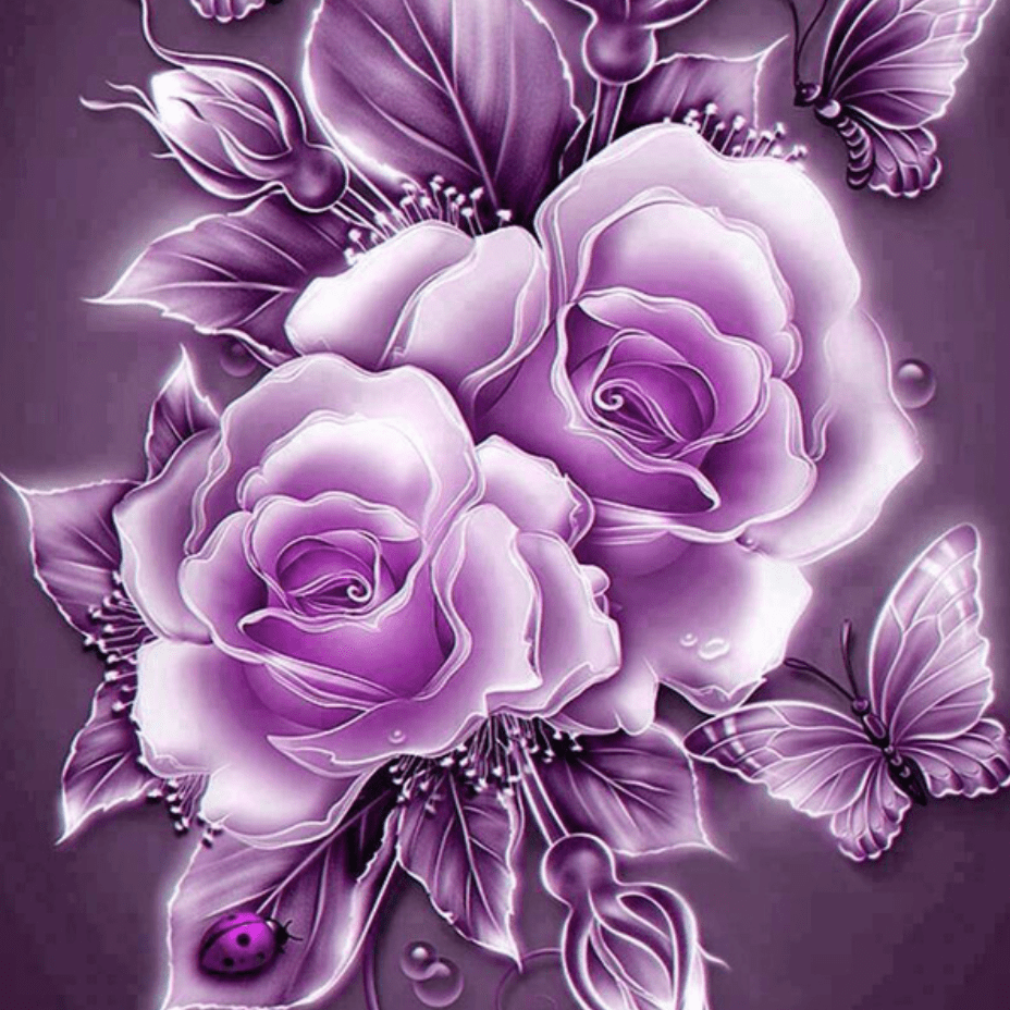 Photo of the Purple Roses Design