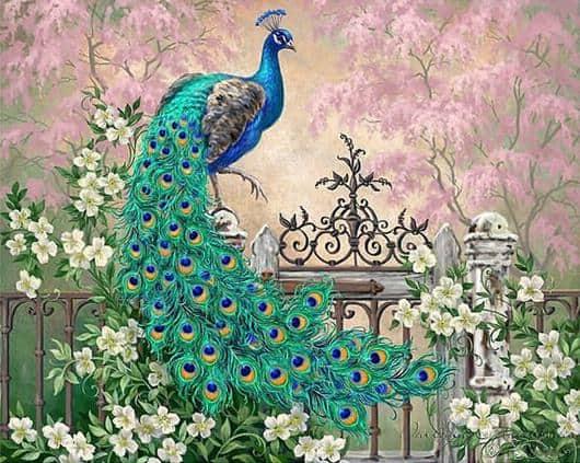 Photo of Green Peacock Design