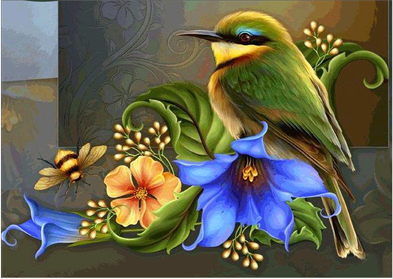 Photo of Birds and Flowers Design