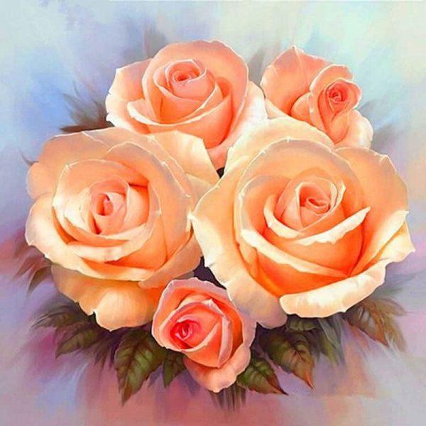 Photo of Peach Roses Design