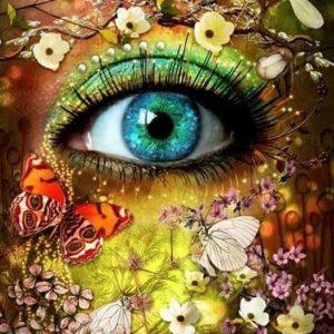 Photo of Eye Flowers Design