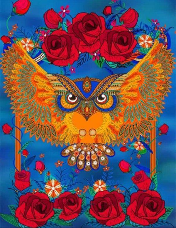 Photo of Owl Roses Design