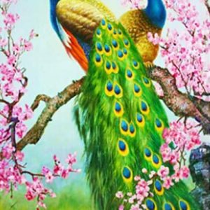 Photo of Peacock Branch Diamond Painting Design