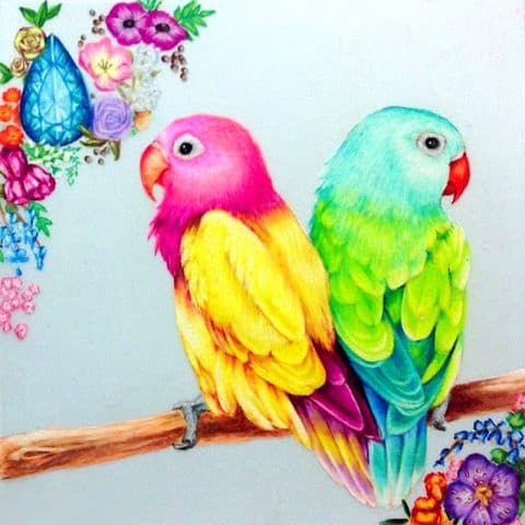 Photo of Neon Birds Design