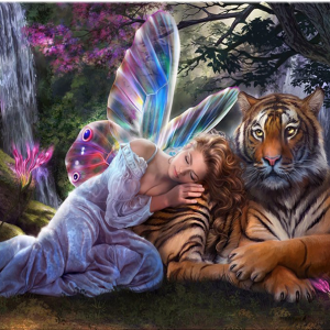 Photo of Fairy Tiger Diamond Painting Design