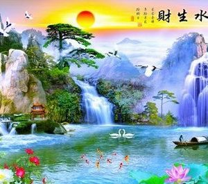 Photo of Asian Lake Diamond Painting Design