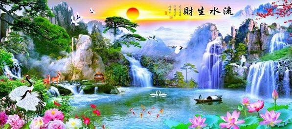 Photo of Asian Lake Diamond Painting Design