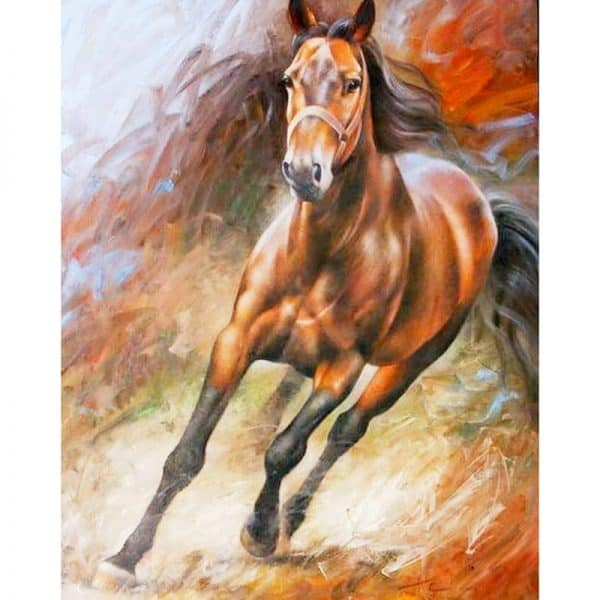 Photo of Horse Run Diamond Painting Design