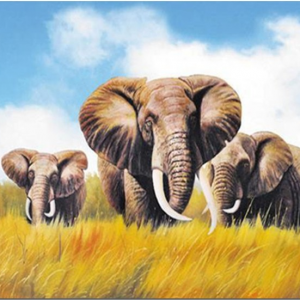 Photo of Elephant Family Diamond Painting Design
