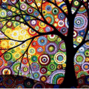 Photo of Art Tree Diamond Painting Design