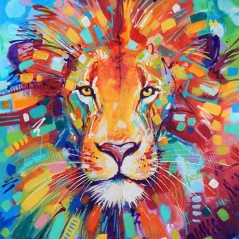 Photo of Lion Paint Diamond Painting Design