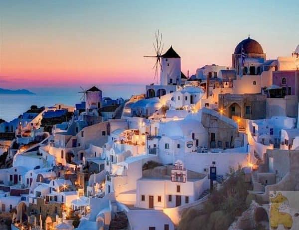 Photo of Greek Landscape Diamond Painting Design