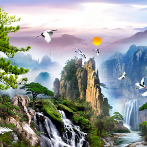 Photo of Asian Mountain Diamond Painting Design