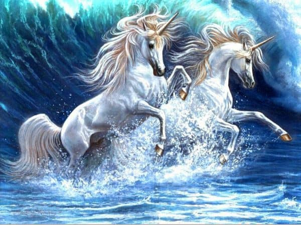 Photo of Unicorn Waves Diamond Painting Design