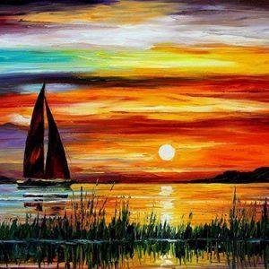 Photo of Sailboat Sunset Diamond Painting Design