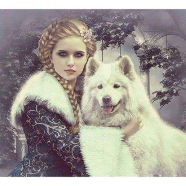 Photo of Dire Wolf Diamond Painting Design