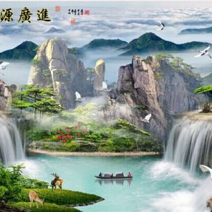 Photo of Asian Mountain Lake Diamond Painting Design