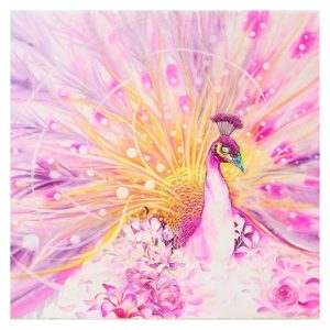 Photo of Pink Peacock Diamond Painting Design