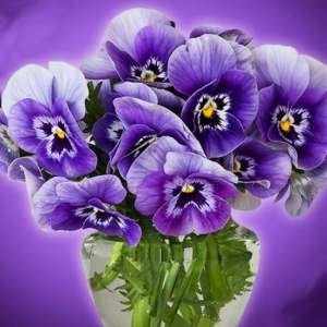 Photo of Purple Bouquet Diamond Painting Design