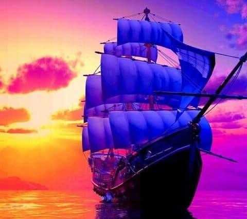 Photo of Sunset Voyage Diamond Painting Design