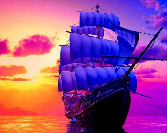 Photo of Sunset Voyage Diamond Painting Design