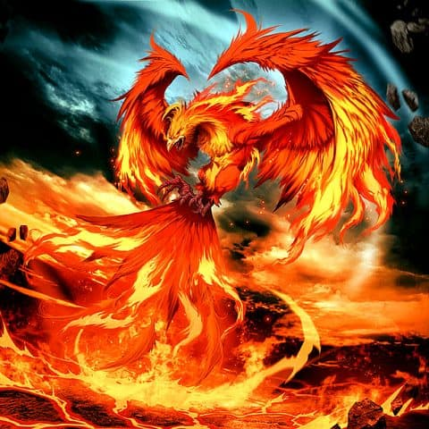 Photo of Fire Phoenix Diamond Painting Design