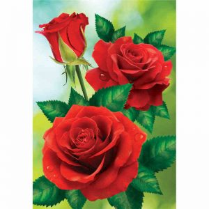 Photo of 3 Red Roses Diamond Painting Design