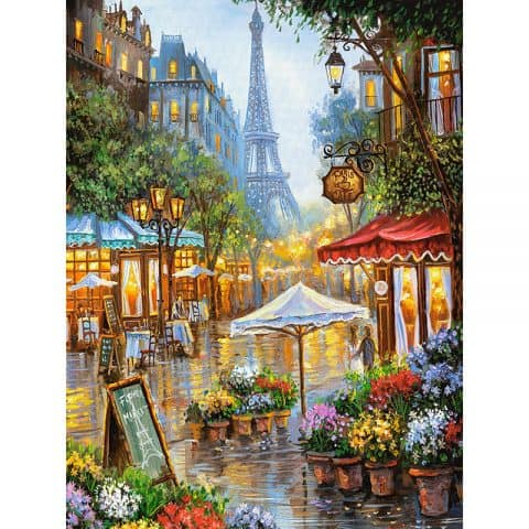 Photo of Paris Street Diamond Painting Design
