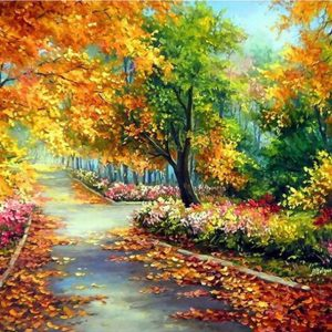 Photo of Autumn Park Diamond Painting Design