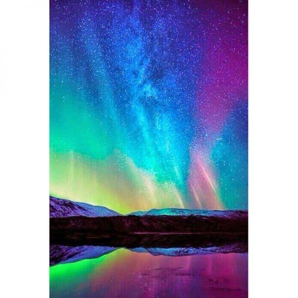 Photo of Northern Lights Diamond Painting Design