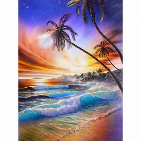 Photo of Tropical Waves Diamond Painting Design