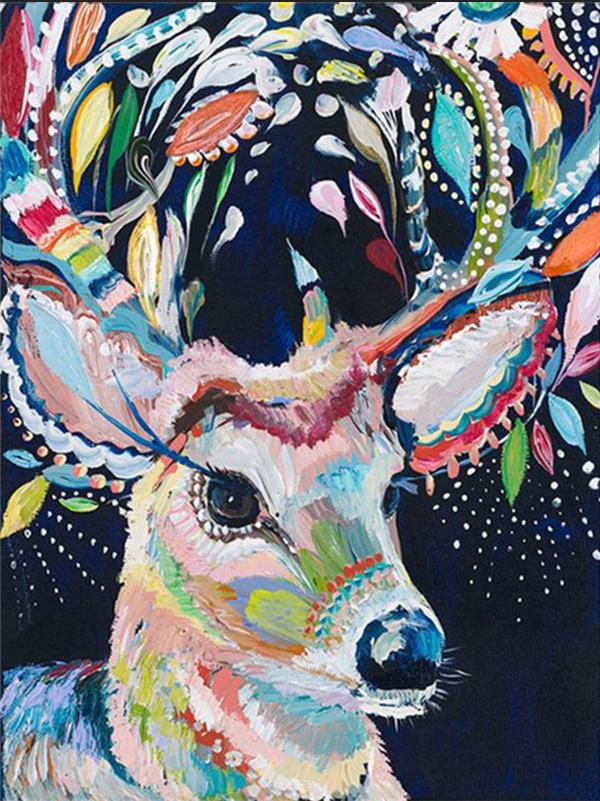 Photo of Acrylic Deer Diamond Painting Design