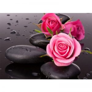 Photo of Pink Roses and Stones Diamond Painting Design