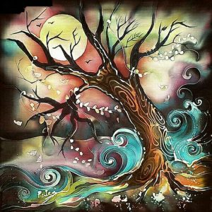 Photo of Night Tree Diamond Painting Design