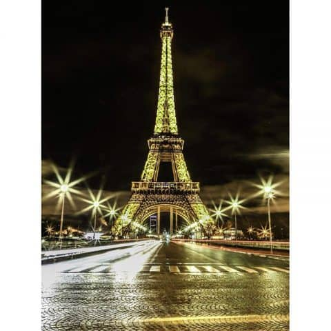 Photo of Eiffel Tower Lights Diamond Painting Design