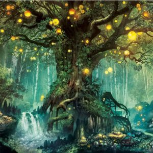 Photo of Glowing Tree Diamond Painting Design