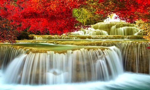 Photo of Landscape Falls Diamond Painting Design