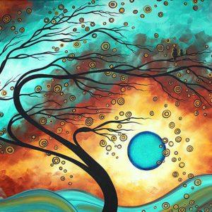 Photo of Windy Tree Diamond Painting Design