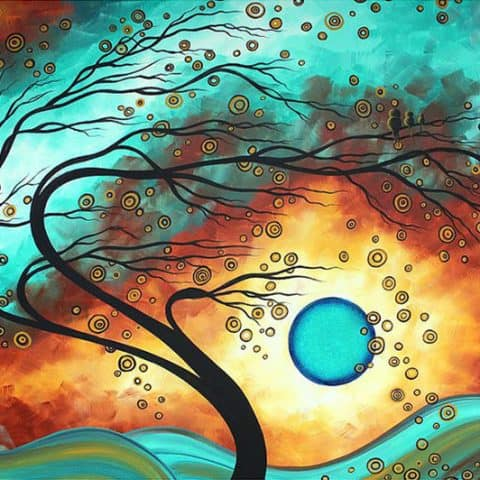 Photo of Windy Tree Diamond Painting Design