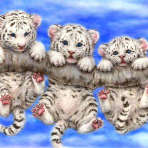 Photo of Leopard Cubs Diamond Painting Design
