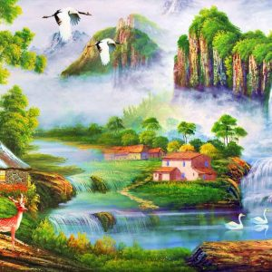 Photo of Scenic Falls Diamond Painting Design