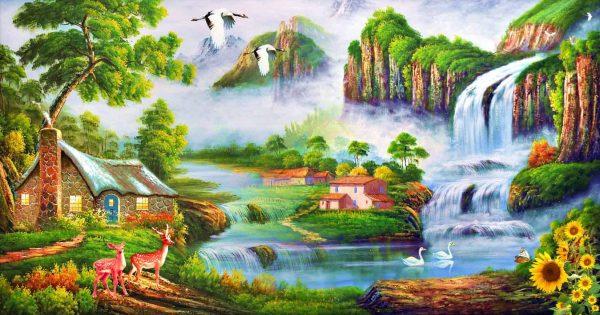 Photo of Scenic Falls Diamond Painting Design