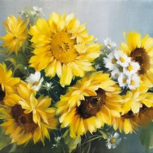 Photo of Sunflower Bouquet Diamond Painting Design