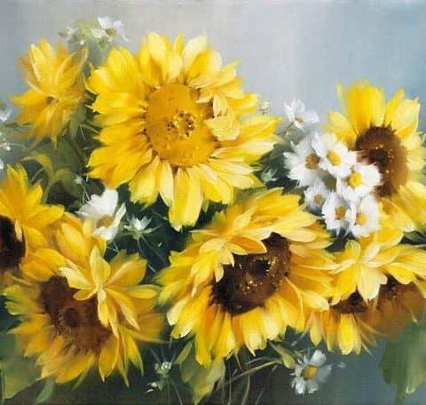 Photo of Sunflower Bouquet Diamond Painting Design