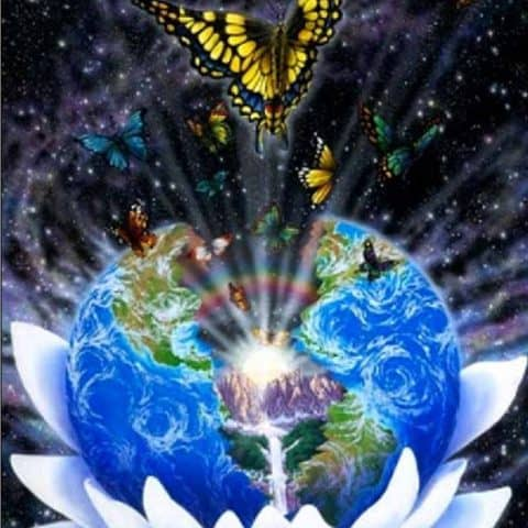 Photo of Earth Butterfly Diamond Painting Design