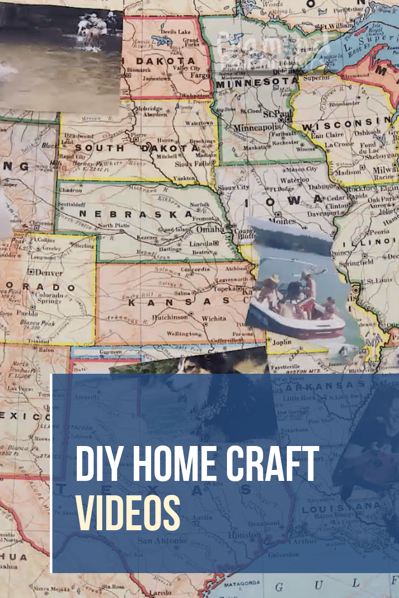 Daily Viral DIY Videos: Travel Photo Map, Party Serving Tray, & Galaxy Chandelier