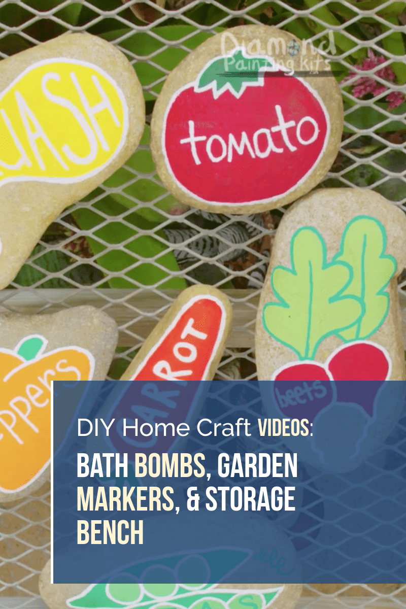 Daily Viral DIY Videos: Bath Bombs, Garden Markers, & Storage Bench