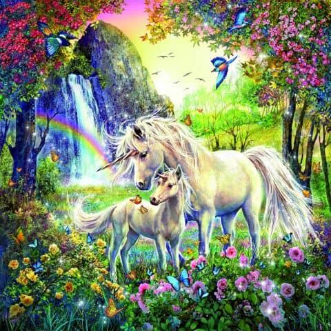 Photo of Unicorn and Rainbows Diamond Painting Design